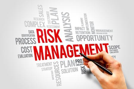 financial risk: Risk management words cloud, business concept