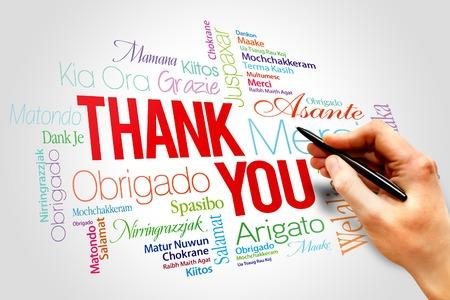 felicitaciones: Usted Palabras Gracias concepto de la nube