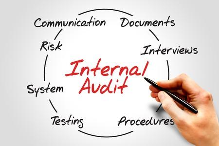 auditoria: Interna c�rculo proceso de Auditor�a, concepto de negocio Foto de archivo