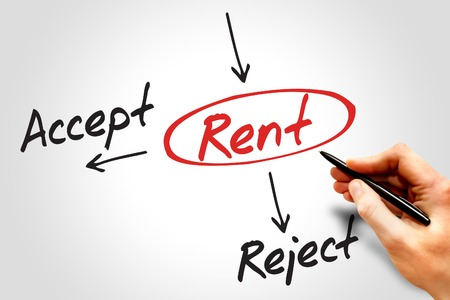reject: Accept or Reject Rent decide diagram, business concept Stock Photo