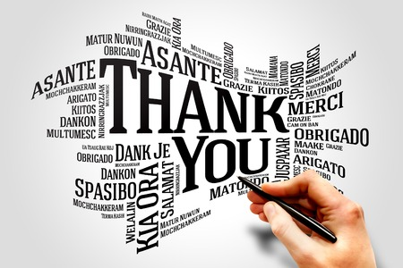 thanks you: Thank You Word Cloud in different languages concept