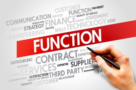 words cloud: FUNCTION related items words cloud, business concept