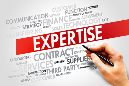 shared goals: Expertise related items words cloud, business concept Stock Photo