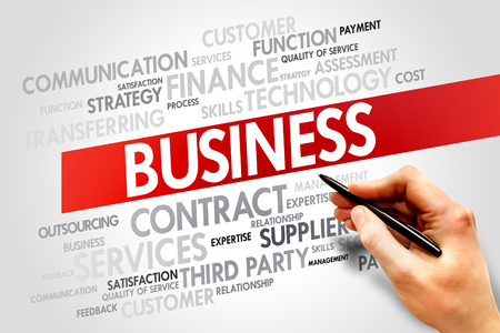 Business related items words cloud, business concept