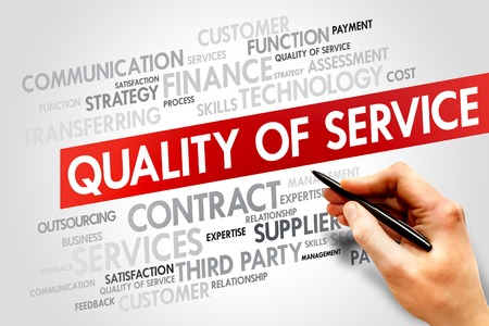 maintainability: Quality of Service related items words cloud, business concept