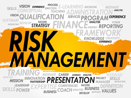 prioritization: Word cloud of Risk Management related items, business concept