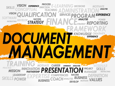dms: Word cloud of Document Management related items, business concept