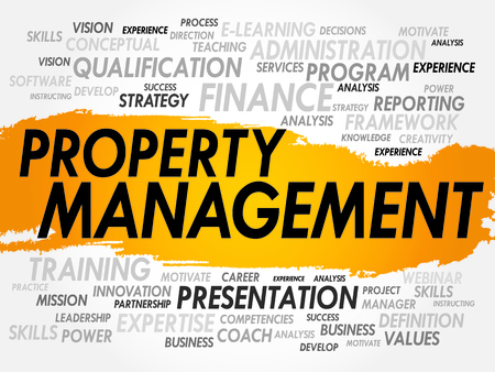 property management: Word cloud of Property Management related items, business concept