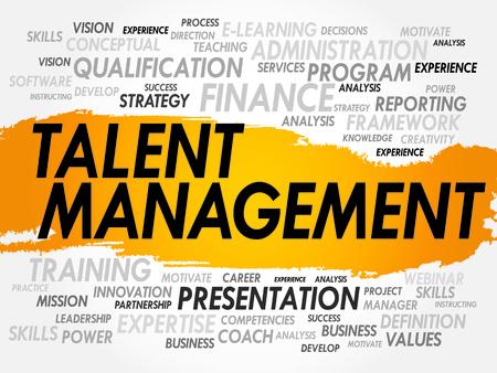 superviser: Nuage de mots d'�l�ments li�s de gestion des talents, concept d'entreprise