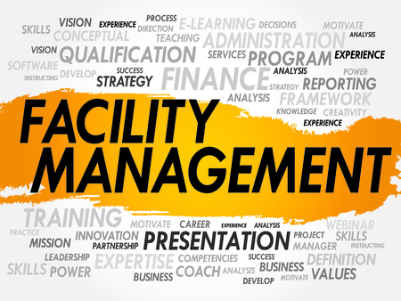 facility: Word cloud of Facility Management related items, business concept
