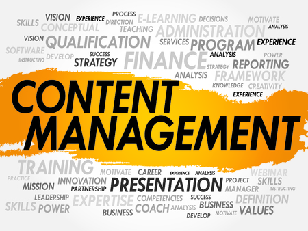 Word cloud of Content Management related items, business concept Vector