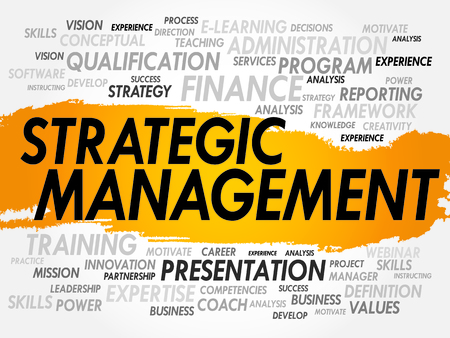 stakeholder: Word cloud of Strategic Management related items, business concept Illustration