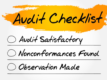 conformance: Audit Checklist, finance business concept