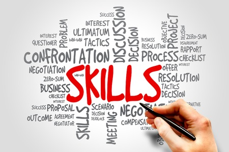 great job: Skills word cloud, business concept