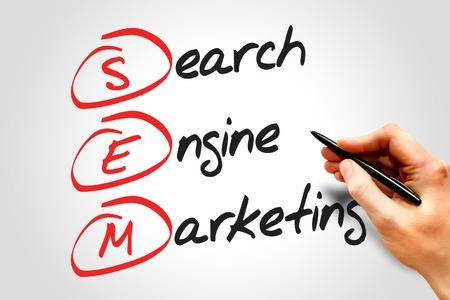 sem: SEM Search Engine Marketing, business concept acronym Stock Photo