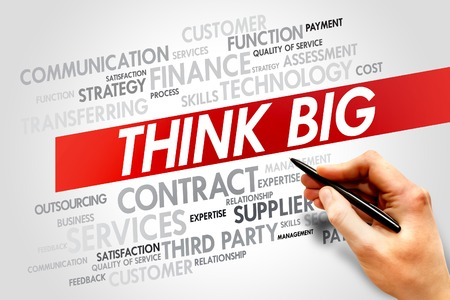THINK BIG word cloud, business concept photo