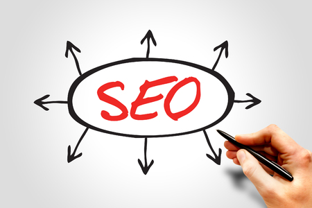 backlink: SEO (search engine optimization) arrows direction business concept