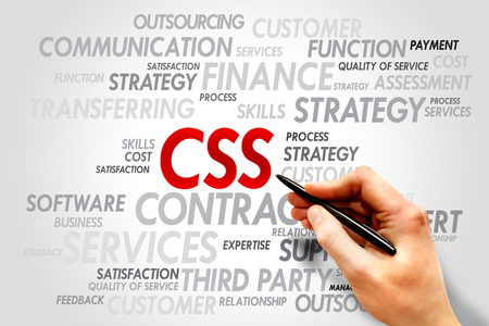css: CSS word cloud, business concept Stock Photo