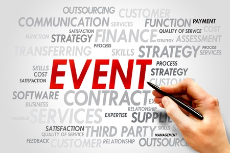 event: EVENT word cloud, business concept