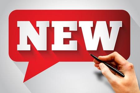 new message: NEW message bubble, business concept