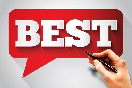 best message: BEST message bubble, business concept