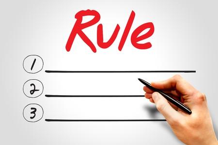 rule: RULE blank list, business concept