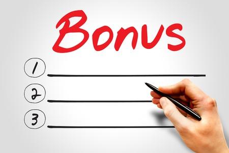BONUS blank list, business concept