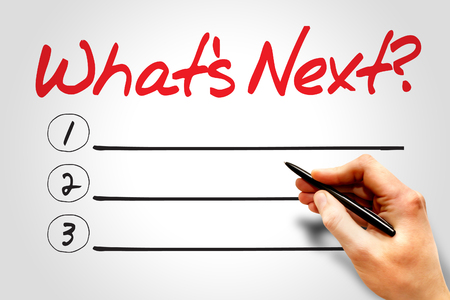 what's ahead: Whats Next blank list, business concept