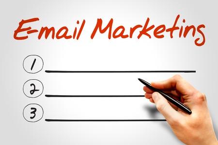 E-mail Marketing blank list, business concept photo