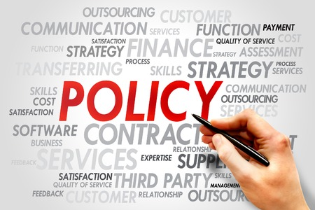 information technology law: POLICY word cloud, business concept