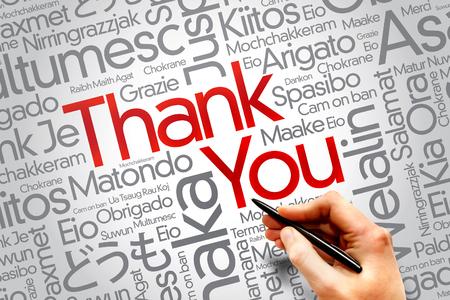 metadata: Thank You Word Cloud, business concept