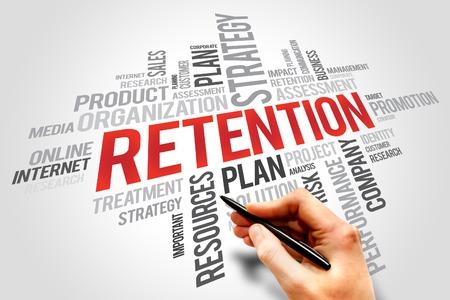 retention: RETENTION word cloud, business concept