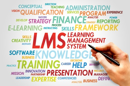management system: Learning Management System (LMS) word cloud business concept