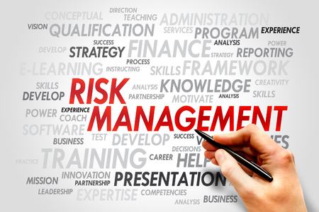 prioritization: Risk Management word cloud, business concept