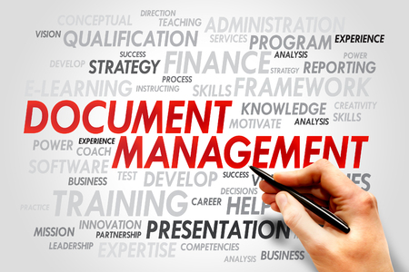 dms: Document Management word cloud, business concept