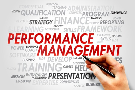 coined: Performance Management word cloud, business concept