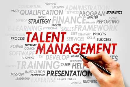 Talent Management word cloud, business concept photo