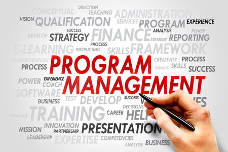 Program Management word cloud, business concept Imagens - 37836265