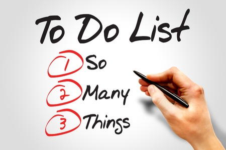 things to do: So Many Things in To Do List, business concept