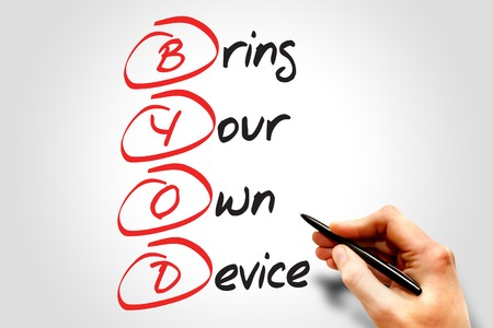 bring: Bring Your Own Device (BYOD), business concept acronym