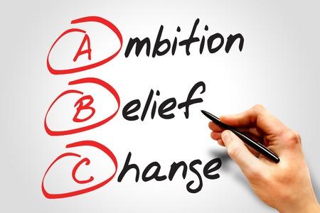 ambition: Ambition Belief Change (ABC), business concept acronym