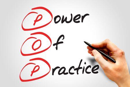 best practice: Power Of Practice (POP), business concept acronym