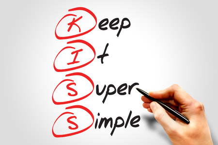 coherent: Keep It Super Simple (KISS), business concept acronym