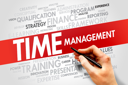 estimating: Time Management word cloud, business concept