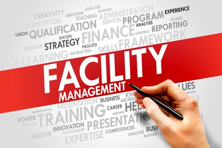 customer records: Facility Management word cloud, business concept