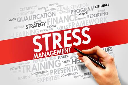 innate: Stress Management nuvola parola, concetto di business