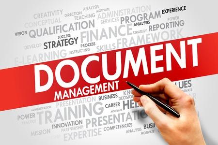 document management: Document Management word cloud, business concept