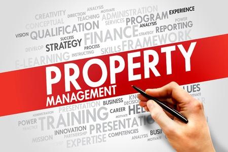 strategic advantage: Property Management word cloud, business concept