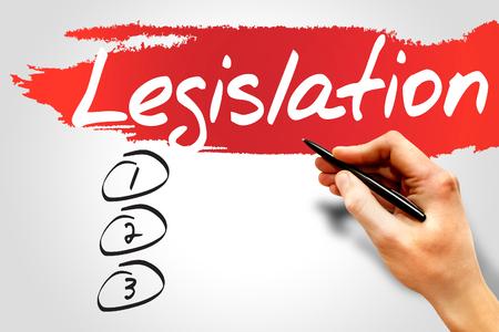 lawmaking: Legislation blank list, business concept
