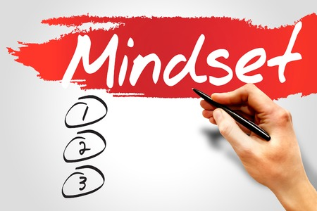 mindset: MINDSET blank list, business concept
